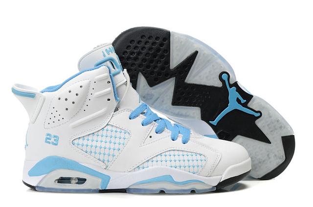 new product b7cae 37999 Jordan 6 White baby blue