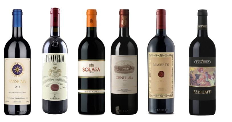 Super Tuscan bottles