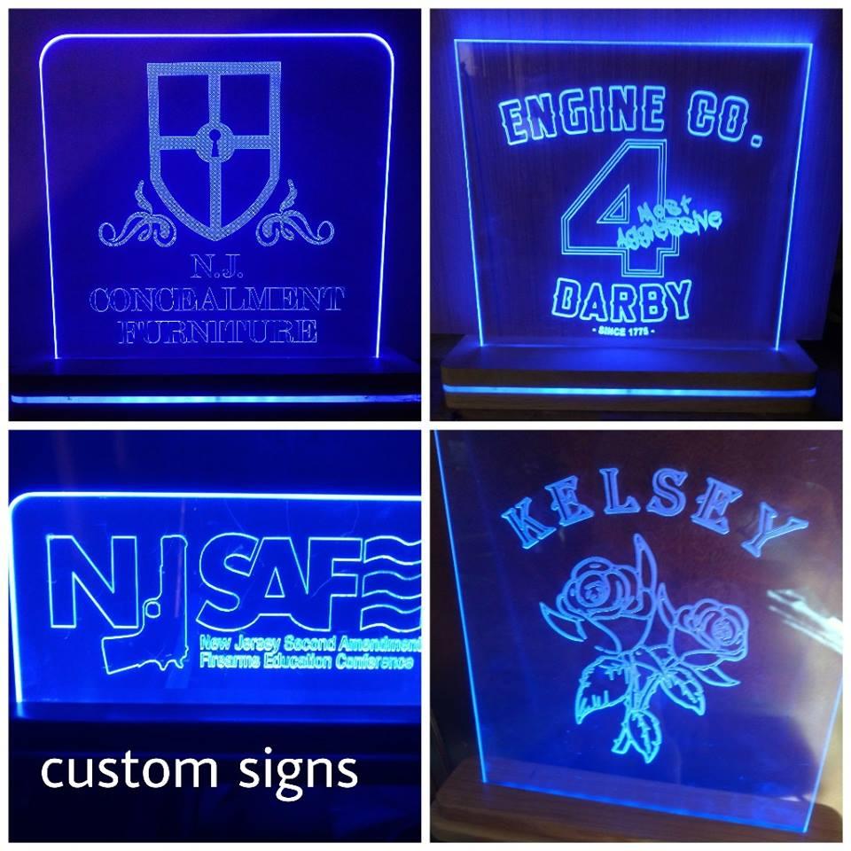 Custom Design Edge Lit Led Sign N J Concealment Furniture