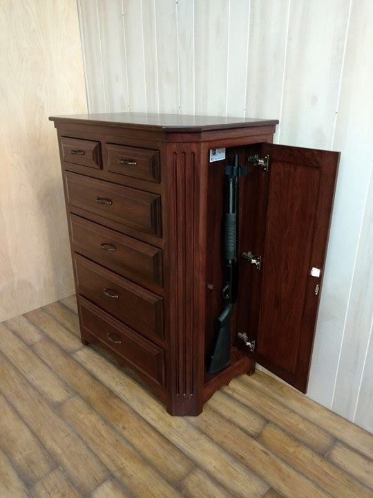 Fluted Cherry Dresser N J Concealment Furniture