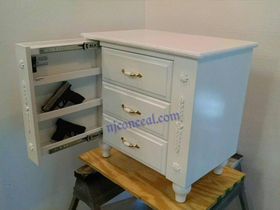 Floral Night Stand N J Concealment Furniture