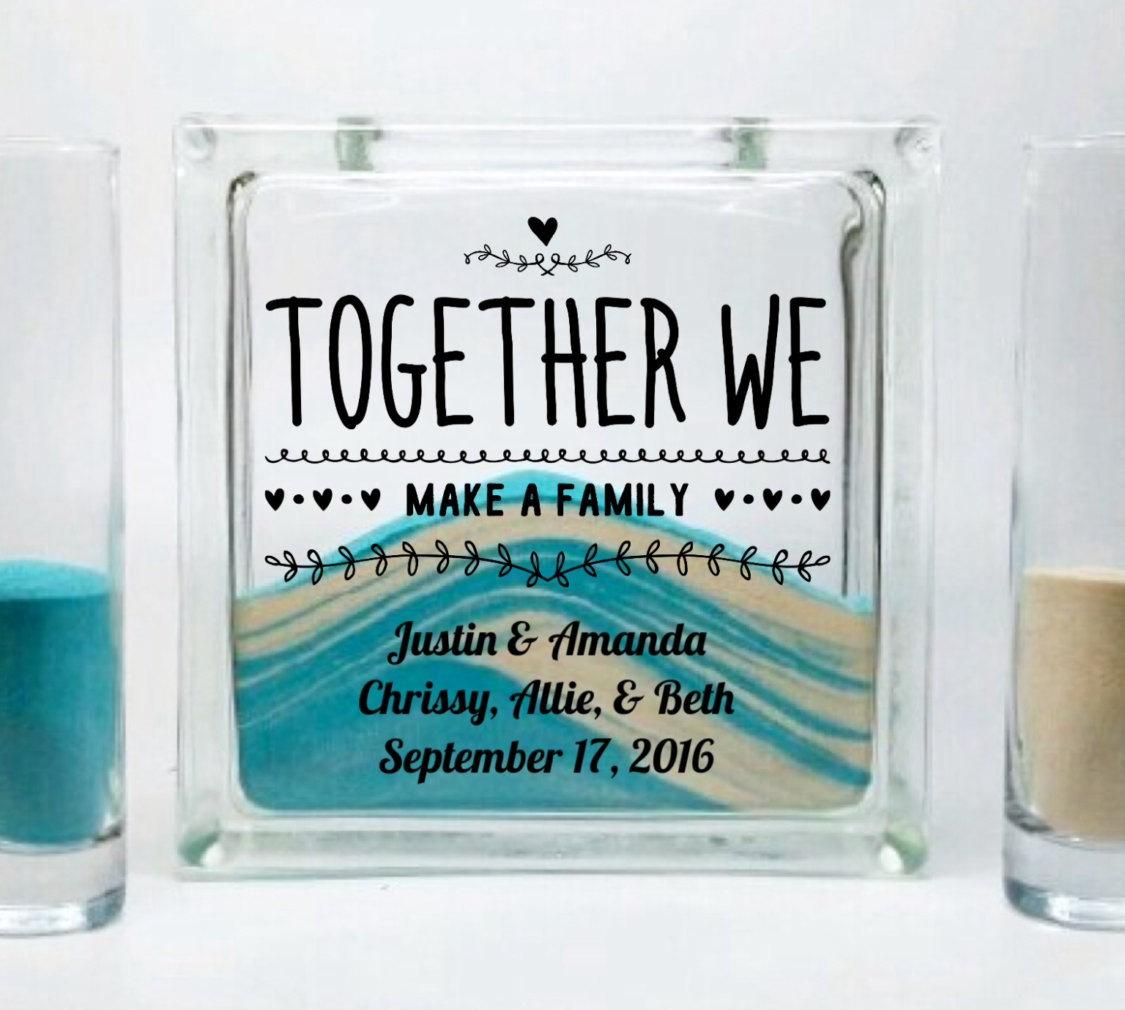 Blended Family Unity Sand Ceremony Set Together We Make A