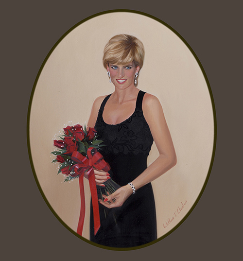 """Princess Diana Black Dress"""