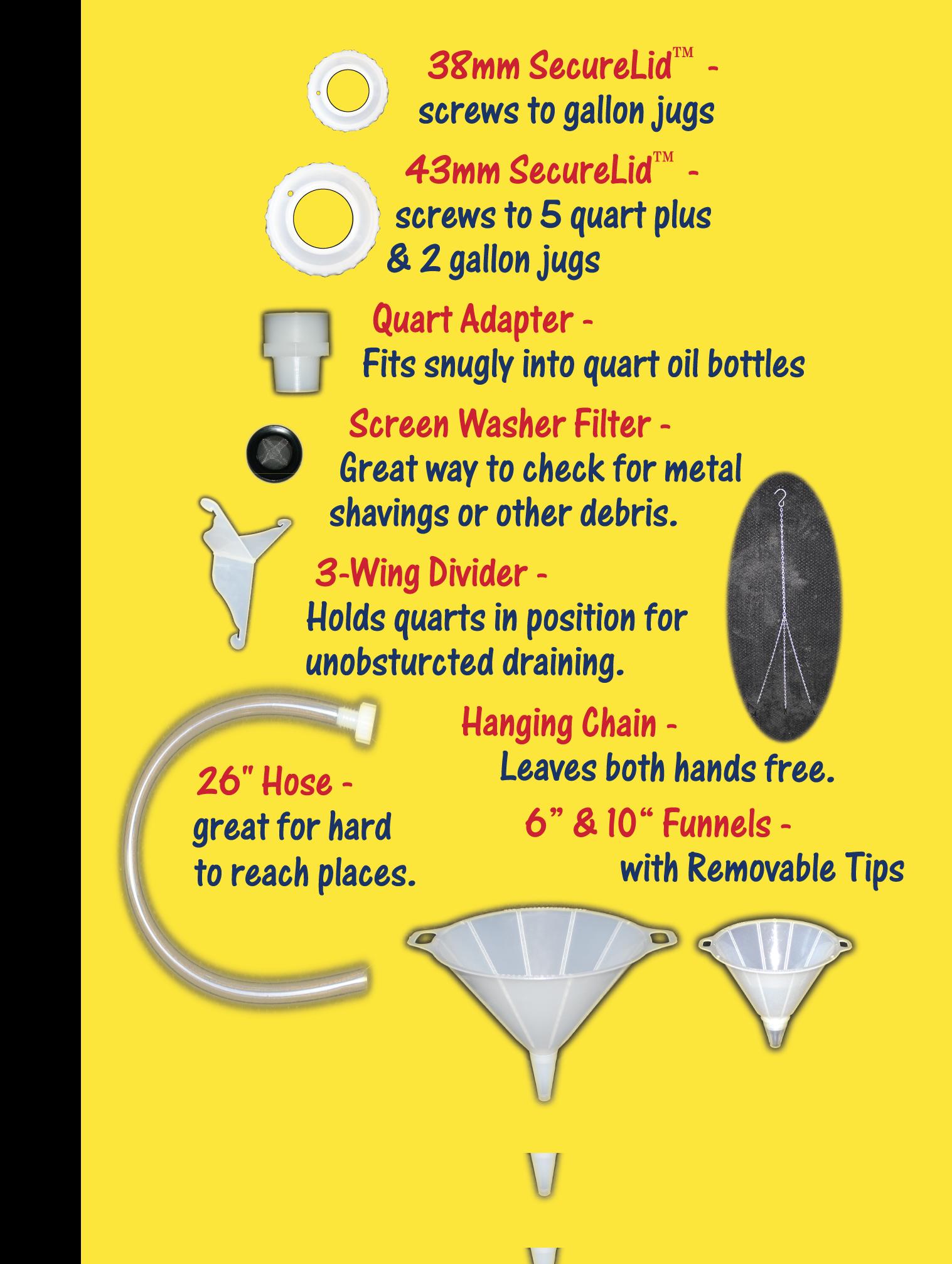 Combo Oil Change Kit Parts