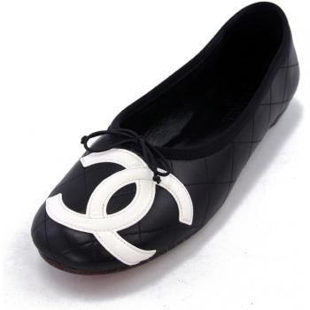 Authentic Blk Chanel Shoes w Double