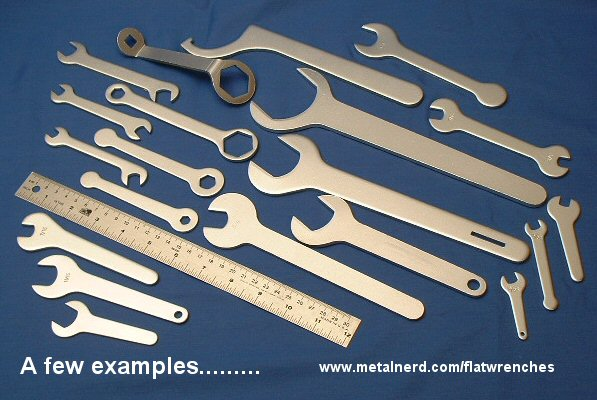 Range of flat wrenches