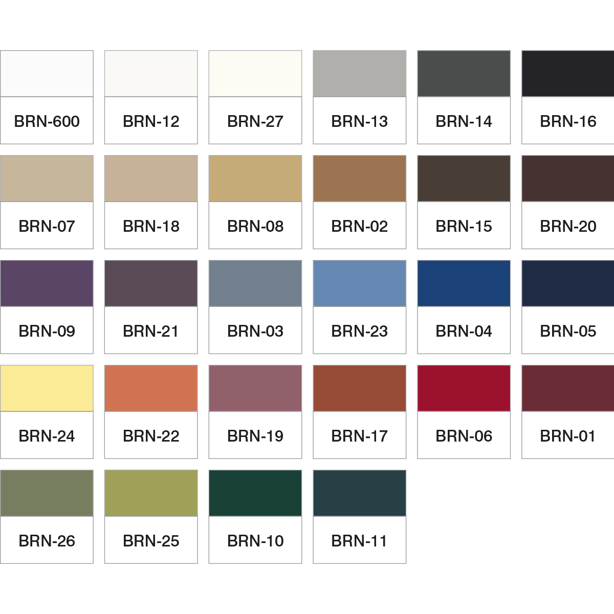 Table Colors